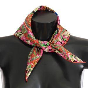 Dolce and Gabbana Silk Multicolor Silk Scarf